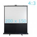 DMT mobiel projectiescherm (200 cm x 150)